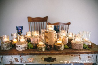 something borrowed birch and candles table setting