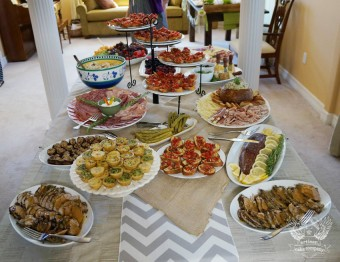 woodland baby shower buffet