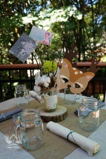 woodland baby shower centerpieces