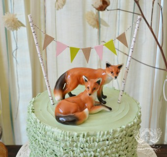woodland fox baby shower