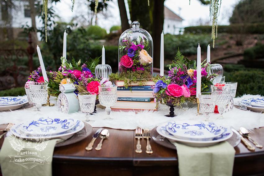 Alice In Wonderland Garden Wedding Artisan Cake Company