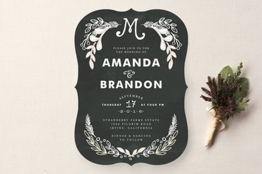 Chalkboard Wedding Invitations: Chalkboard Wedding Cake