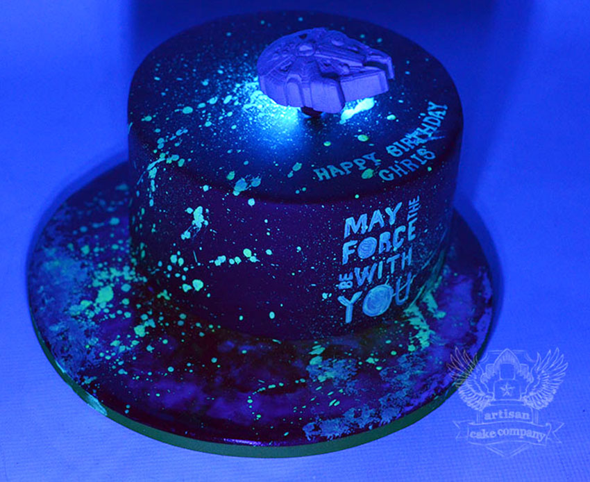 Glow In The Dark Birthday Cake Artisan Cake Company