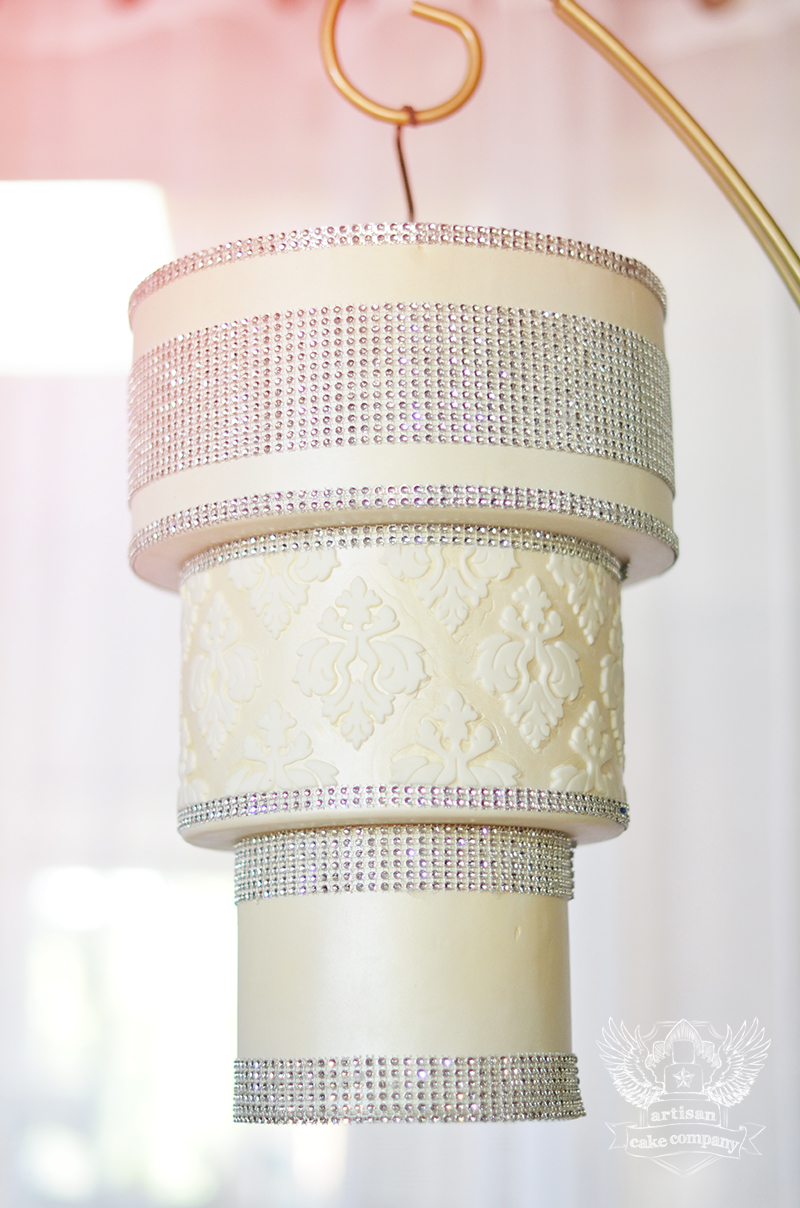 How to make a chandelier cake artisan cake company chandeliercake2 mozeypictures Image collections