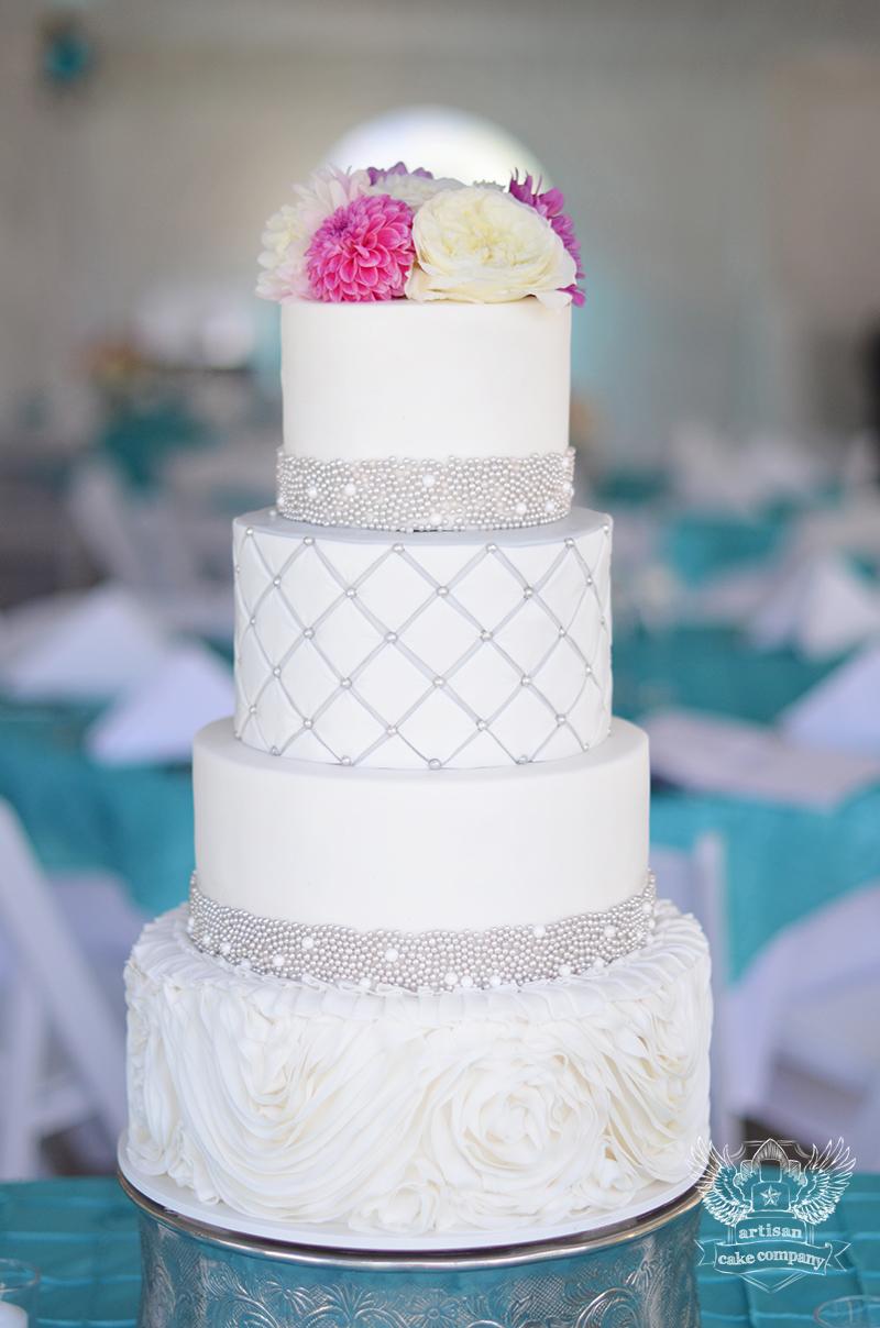 Rosette Ruffle Wedding Cake Artisan Cake Company
