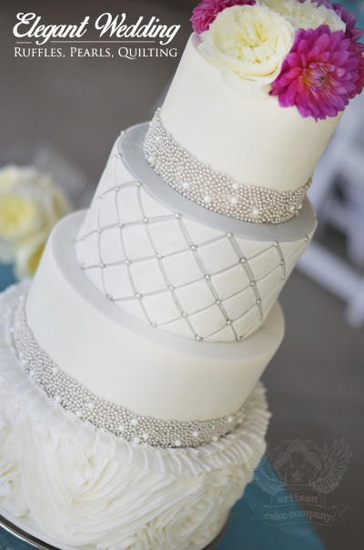 Rosette Ruffle Wedding Cake