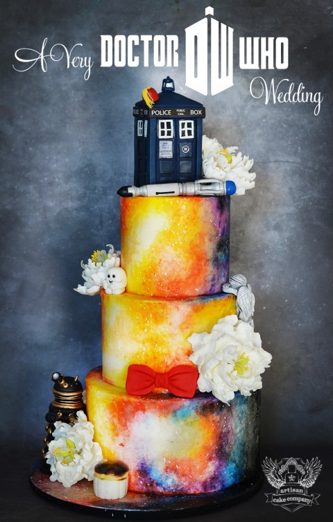 Doctor Who Themed Wedding Cake Artisan Cake Company