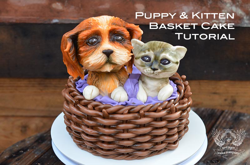 How to sculpt rice krispy treats artisan cake company puppykittenbasketcaketutorial ccuart Image collections