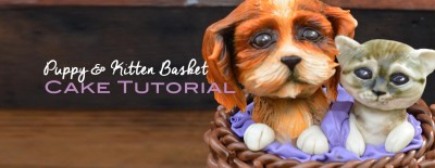 Puppy & Kitten Basket Cake Tutorial