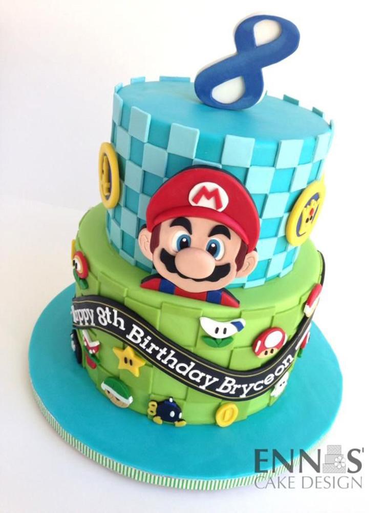 super mario bros cake Artisan Cake Company