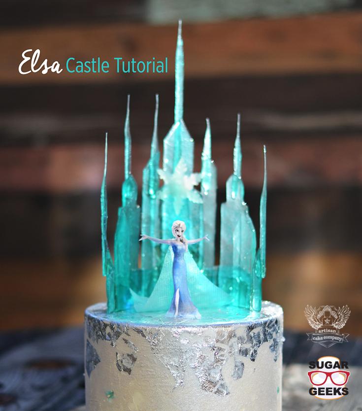 Ice Castle Frozen Cake