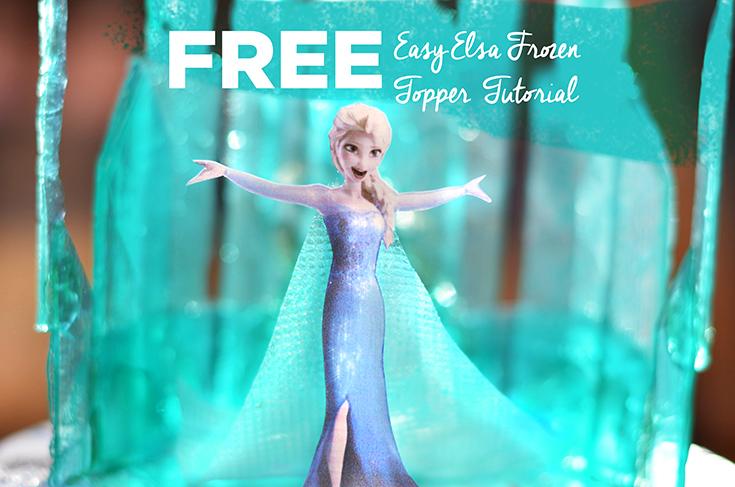 Easy Elsa Frozen Topper Tutorial Artisan Cake Company