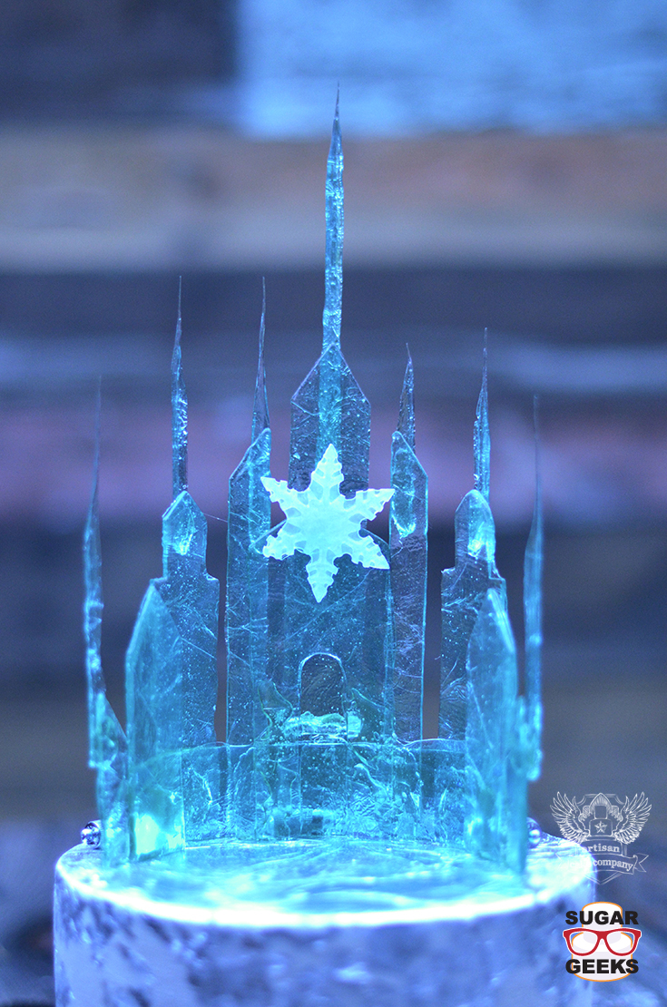 Elsa frozen castle tutorial artisan cake company for Mesa cristal heaven