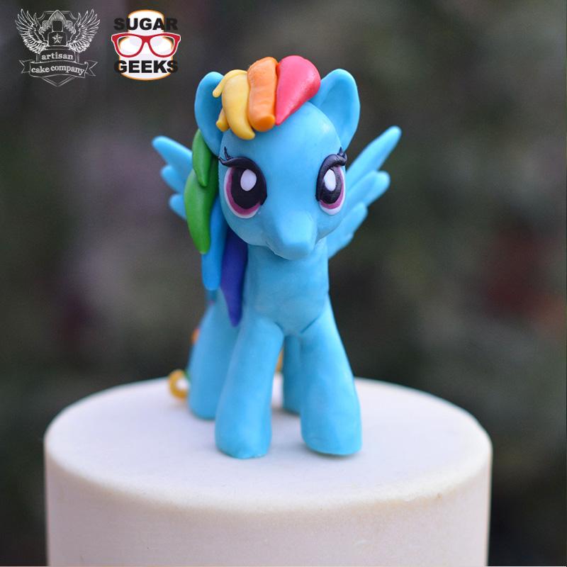 Rainbow Dash Birthday Cake Topper