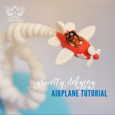Gravity Defying Airplane Cake Tutorial