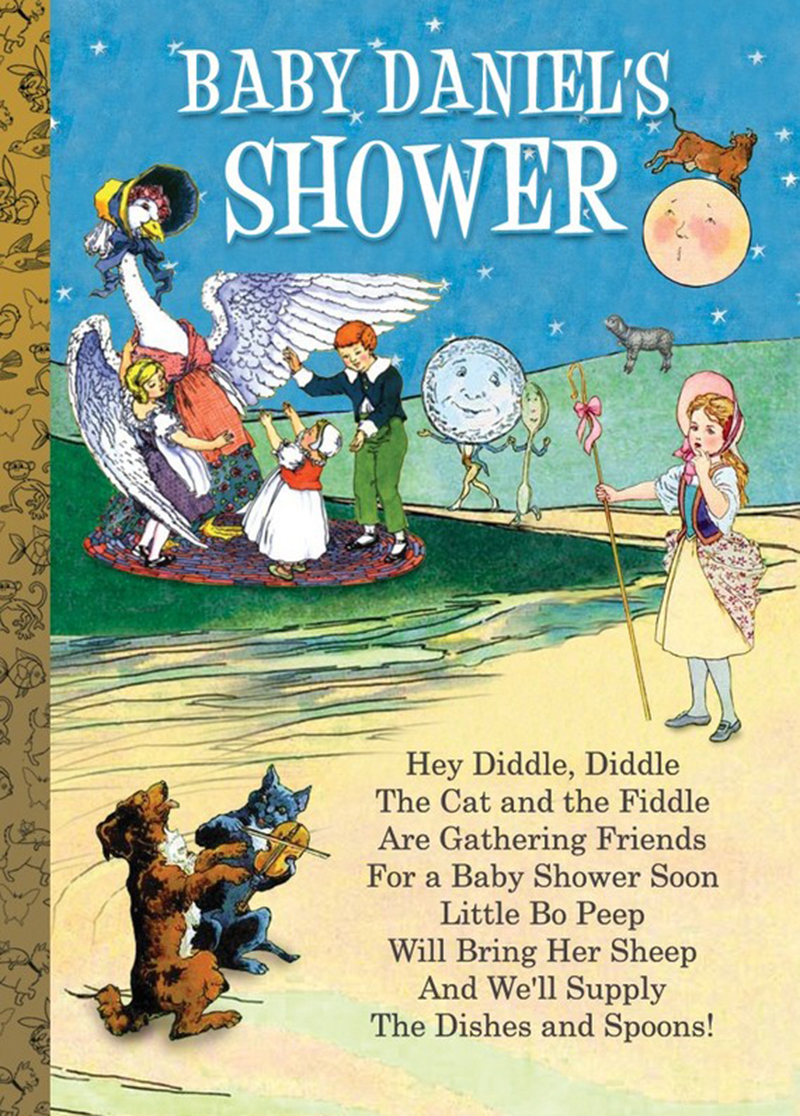 Speaking Of Books Why Not Reserve Some E At Your Local Library For Nursery Rhyme Themed Shower Most Libraries Will Out The Common