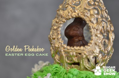 Golden Easter Egg Cake Tutorial