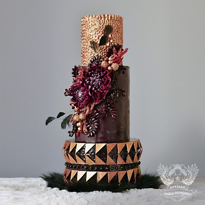 Marsala Wedding Cake