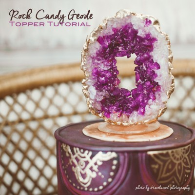 Rock Candy Geode Cake