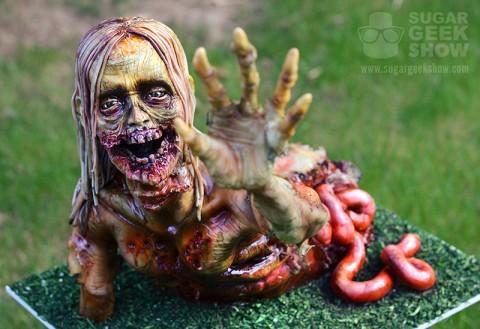 Walker Zombie Cake Tutorial