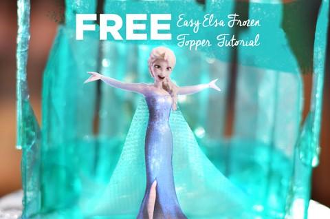 Easy Elsa Frozen Topper Tutorial